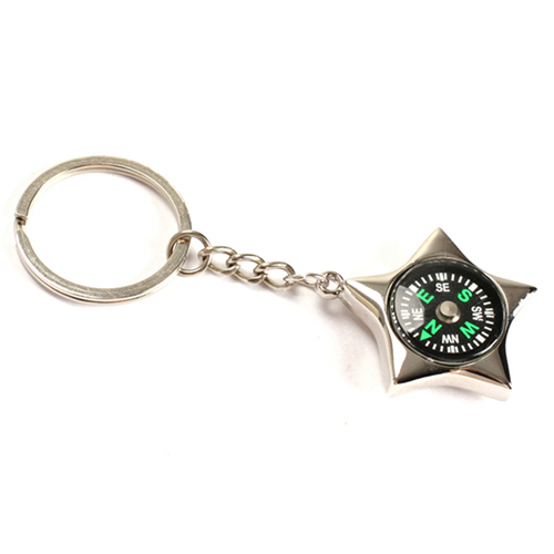 Star-Shaped Compass Keychain Image 3