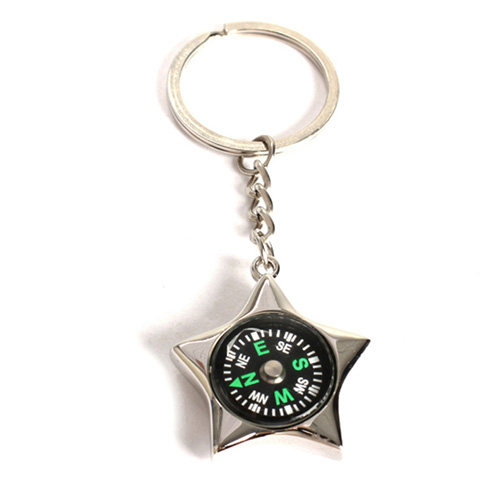 Star-Shaped Compass Keychain Image 4
