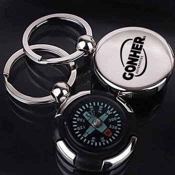 Mini Portable Compass Keychain