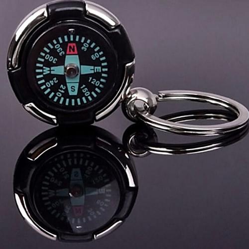Mini Portable Compass Keychain Image 2