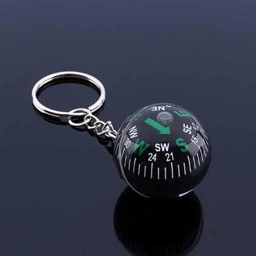 Acrylic Crystal Ball Compass Keychain