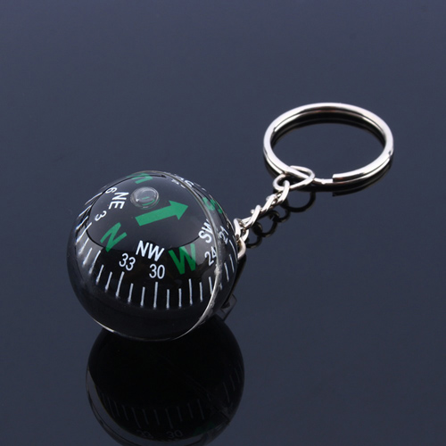Acrylic Crystal Ball Compass Keychain Image 3
