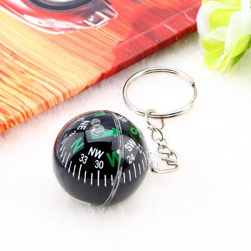 Acrylic Crystal Ball Compass Keychain Image 4