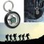 Creative Alloy Wheel Tyre Compass Keychain