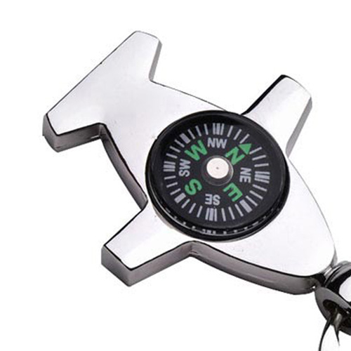 Plane Shaped Compass Keychain Image 3
