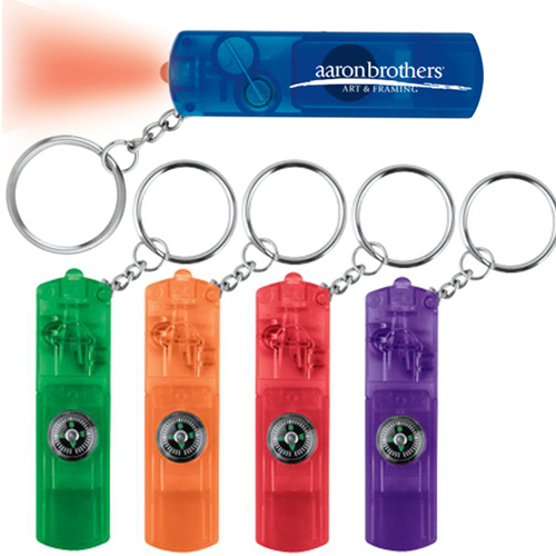 Whistle LED Key Light With Compass