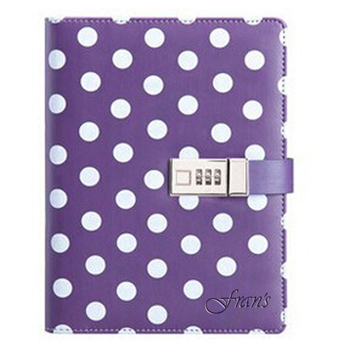 White Dot Candy Girl Notebook Diary