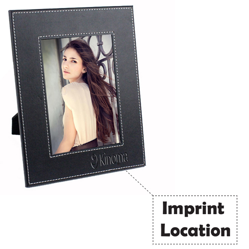 Creative Leather 7 Inch Photo Frame Imprint Image