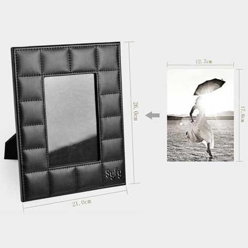 Creative Wedding Leather Photo Frame Image 3