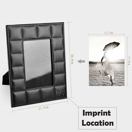 Creative Wedding Leather Photo Frame Imprint Image