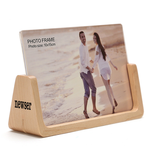 U Style 6 Inch Wood Photo Frame
