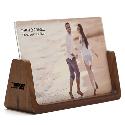 U Style 6 Inch Wood Photo Frame Image 1