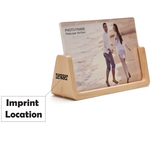 U Style 6 Inch Wood Photo Frame Imprint Image
