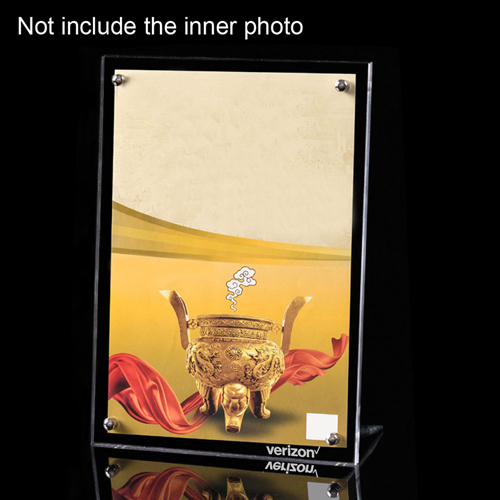 Double-Sided Clear Photo Frame Image 1