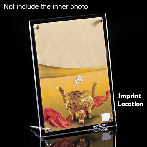 Double-Sided Clear Photo Frame Imprint Image