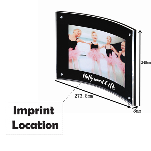 Curved Magnetic Photo Frame Imprint Image