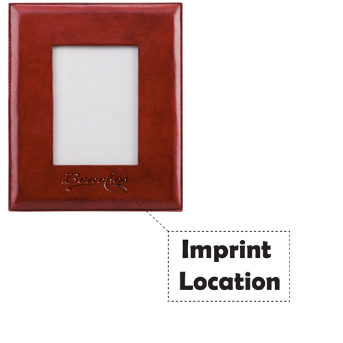 Handmade Leather Picture Frame  Imprint Image