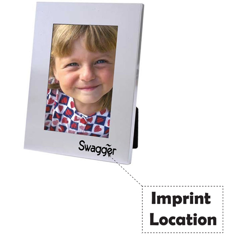 Matte Silver Picture Frame Imprint Image