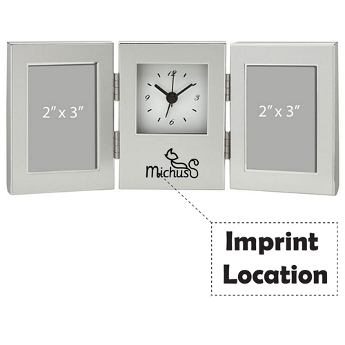 Essentials Clock And Photo Frame Imprint Image