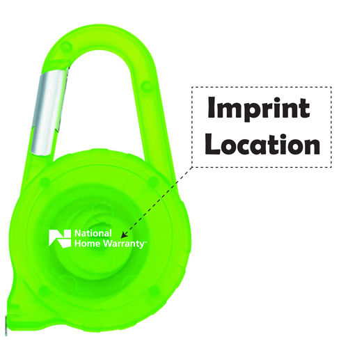 Carabiner ABS Tape Measure Imprint Image
