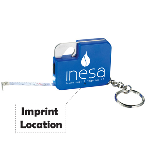 Multi Function Tape Measure Keychain Imprint Image