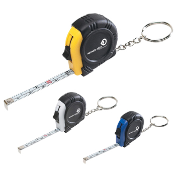 Portable Rubber Tape Measure Keychain