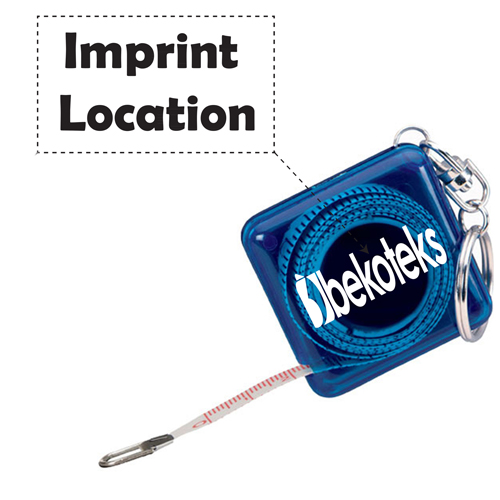 Square Shape Tape Measure Key Holder Imprint Image