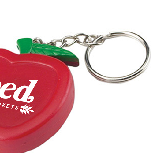 Apple Shaped Tape Measure Keychain Image 2