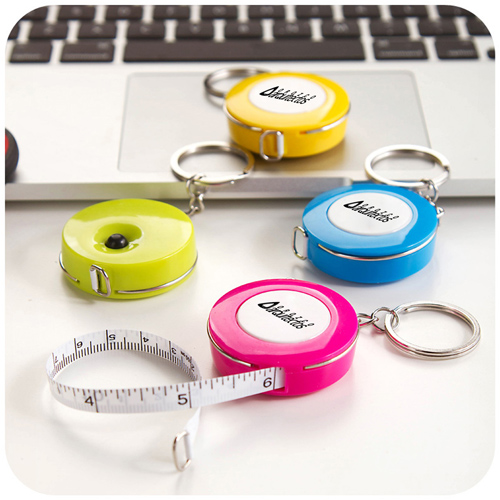 Plastic Mini Tape Measure Keychain