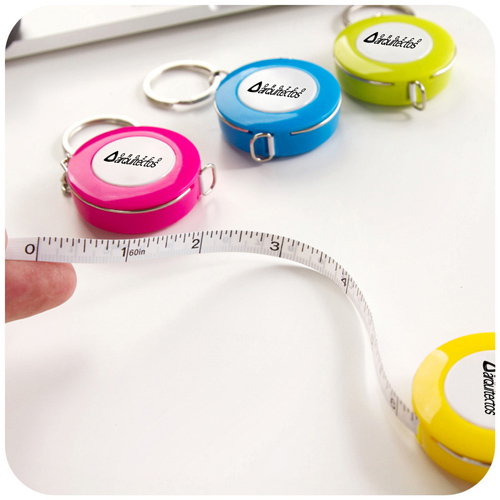 Plastic Mini Tape Measure Keychain Image 1