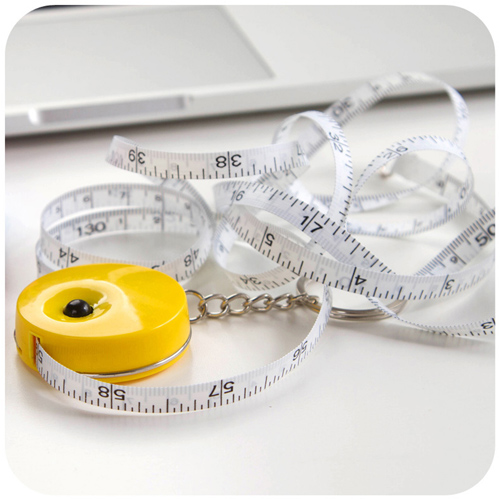 Plastic Mini Tape Measure Keychain Image 2