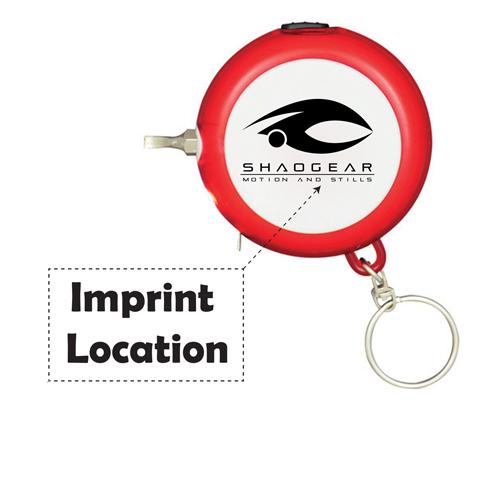 Multifunction Tape Measure LED Keychain Imprint Image