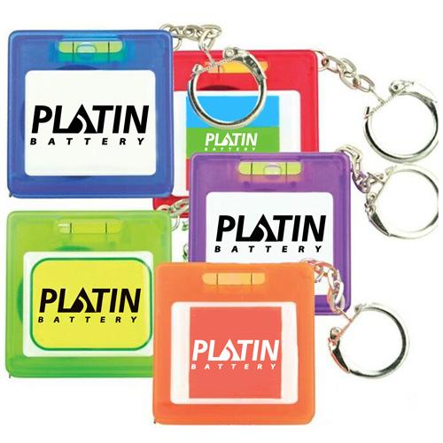 Square Shape Tape Measure Level Keychain