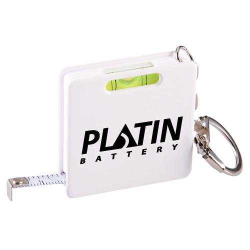 Square Shape Tape Measure Level Keychain Image 2
