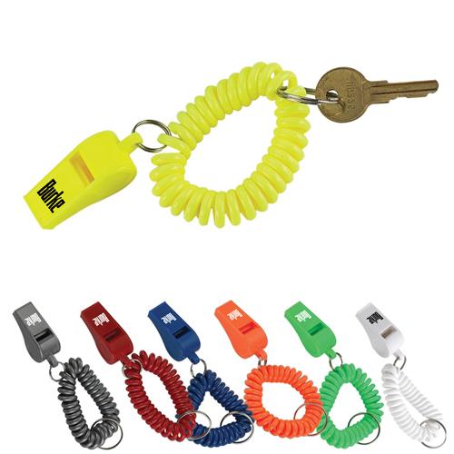 Whistle Wristband Coil Bracelet Key Chain