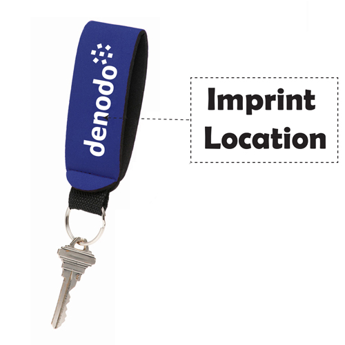 Stretchable Neoprene Strap Keychains Imprint Image