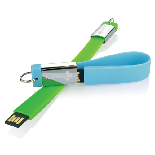 Thin 4GB USB Flash Drive Key Chain Image 1