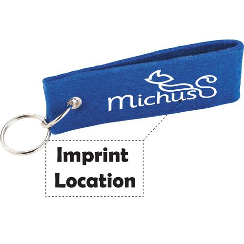 Jubilee Felt Strap Keychain Imprint Image