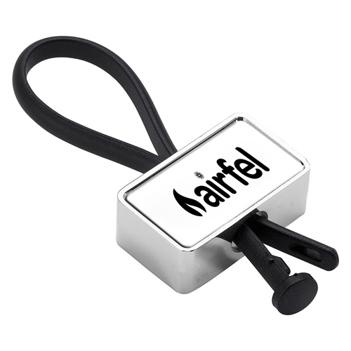 Metal Rubber Loop Wristband Key Chain
