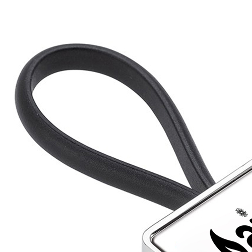 Metal Rubber Loop Wristband Key Chain Image 3