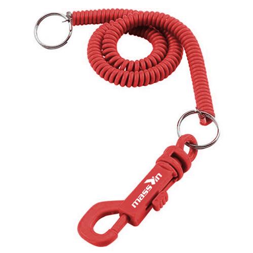 Slim Spiral Cord Key-Clip Image 2