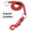 Slim Spiral Cord Key-Clip Imprint Image