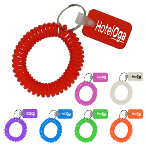 Rectangular Wrist Coil Keychain