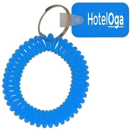 Rectangular Wrist Coil Keychain Image 1