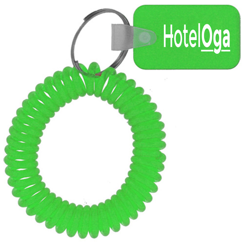 Rectangular Wrist Coil Keychain Image 2