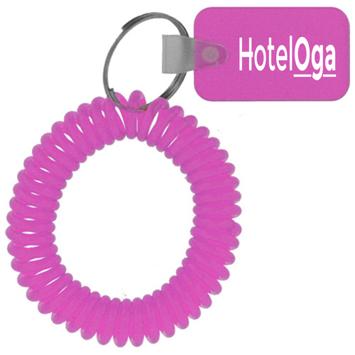 Rectangular Wrist Coil Keychain Image 3