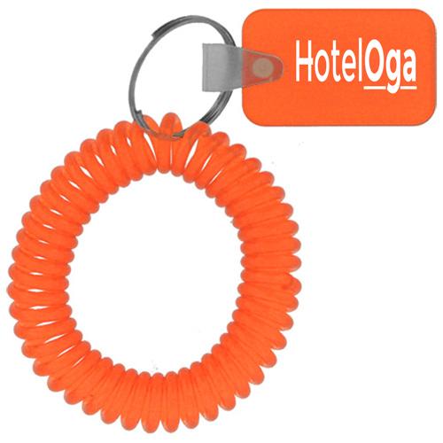 Rectangular Wrist Coil Keychain Image 4
