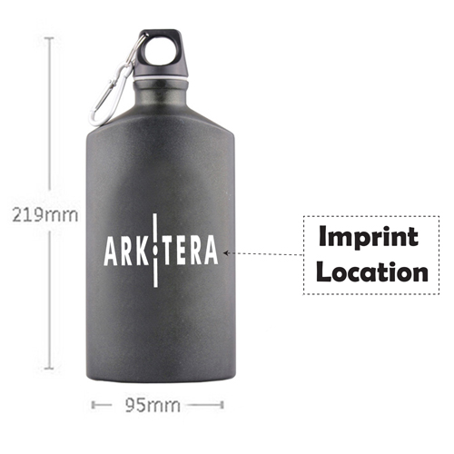 Outdoors Aluminum Water Bottle Imprint Image