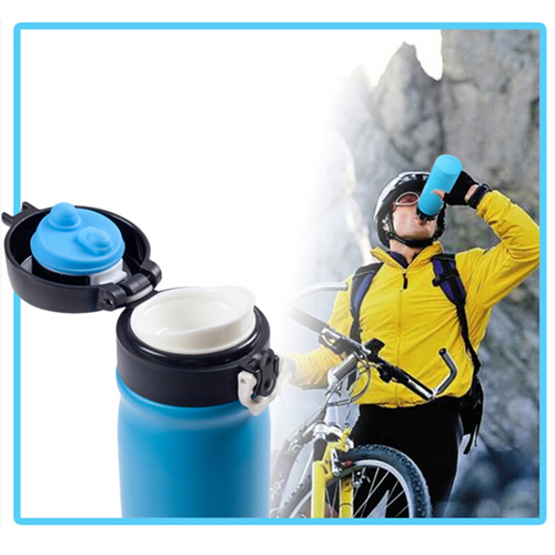Outdoors Double Layer Thermal Insulation Bottle Image 3