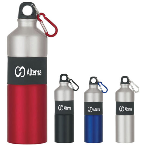 Rubber Grip Aluminum Bottle
